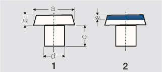 General Rules for Dimensioning of Contact Rivets